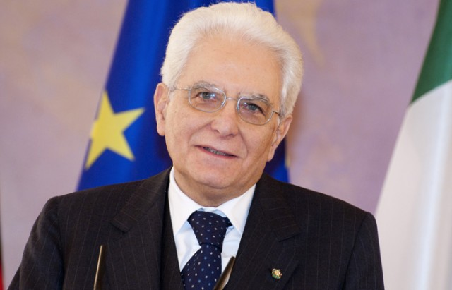 Il presidente della Rapubblica, Sergio Mattarella